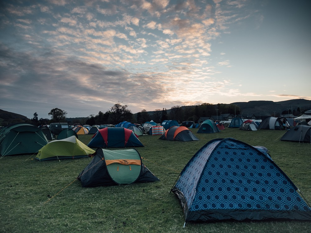 Staying at the festival
